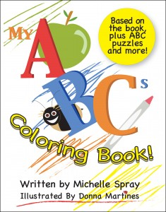 My ABCs COLORING BOOK front cover w border